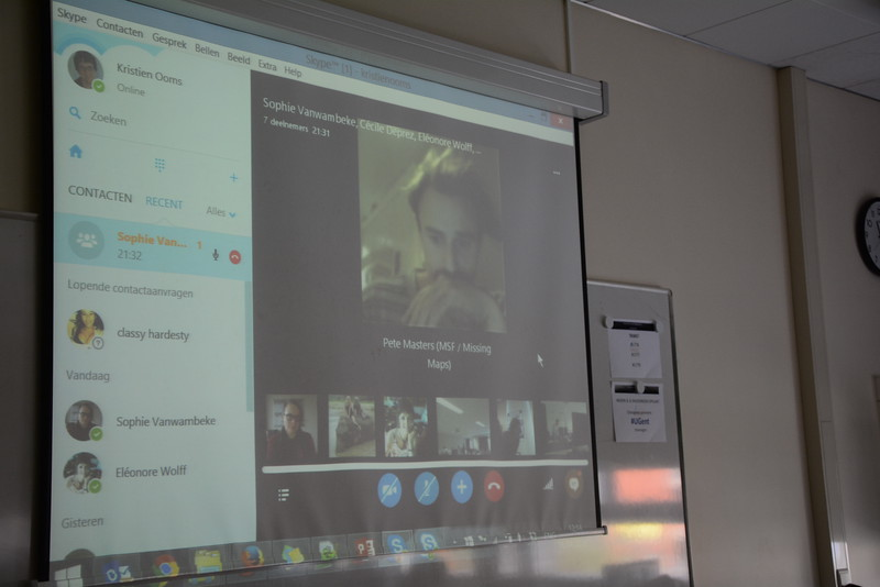 Video chat with the other teams and Pete Masters